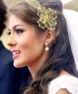 Tiara de noiva rendinha dourada