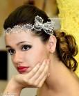 Tiara de noiva Paloma rendinha com laço