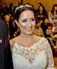tiara de noiva pérolas com flor