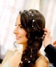 fio para noivas de pedrarias e pérolas pode ser utilizado com penteados soltos e presos