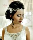 Tiara rendinha com laço noiva