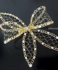 Tiara de noiva rendinha de metal com laço
