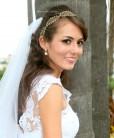 Tiara de noivas rendinha com cristais