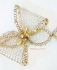tiara de noiva dourada laço