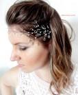Tiara de noiva gotas com cristais