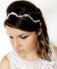 tiara de noiva perolas prateada