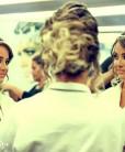 tiara de noiva perolas - dourada com pérolas champanhe