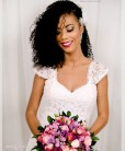 Flor para noiva com perolas e cristais