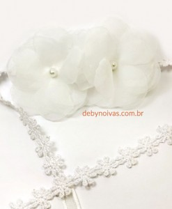 tiara para daminha duas flores tiara de noiva