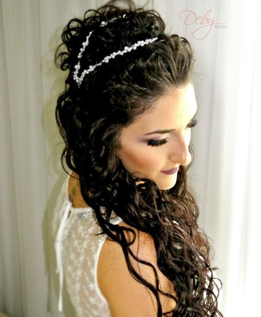 Tiara de noiva de pérolas dupla