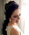 Tiara de noiva com pérolas e cristais
