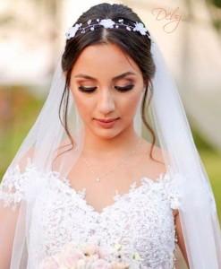 tiara de noiva flor com perolas
