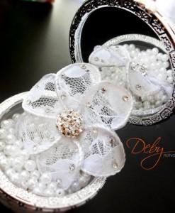 Flor de renda para noiva
